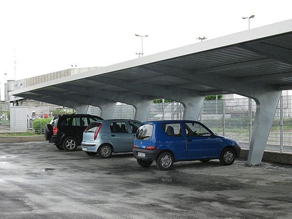 Cls carpenteria tettoie per auto bergamo - Tettoie in ferro per auto ...